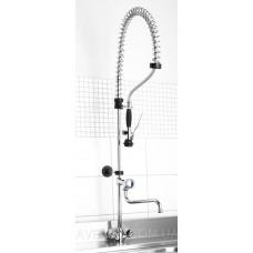 Профессиональный смеситель с душем и изливом, на пружине HENDI 970515