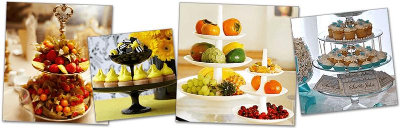 Этажерки для фруктов и пирожных
