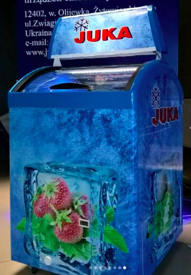 Прикассовая морозильная витрина, Юка м100V,  морозильный ларь, купить, доставка бесплатная