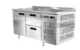 Купить холодильный стол 1400х600х850 с бортом, с ящиками