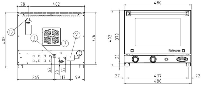 Конвекционная печь XF 003 Roberta печь Унокс, UNOX