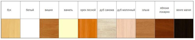 Выбрать цвет ДСП для торгового прилавка